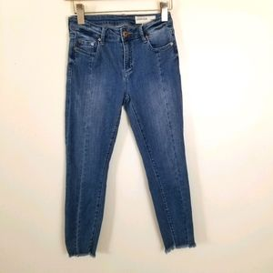Pistola Denim Skinny Mid Rise Raw Hem Jeans 27